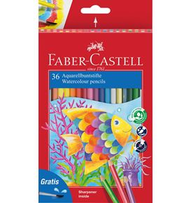 Faber-Castell - Watercolour pencil + brush box of 36