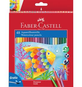 Faber-Castell - Watercolour pencil + brush box of 48