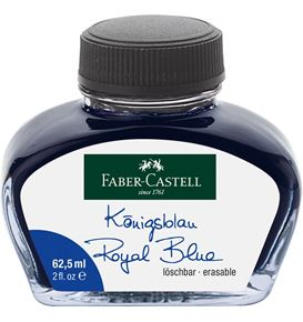 Faber-Castell - Ink bottle, 62.5 ml, ink blue erasable