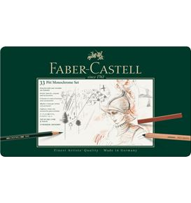 Faber-Castell - Set Pitt Monochrome tin of 33
