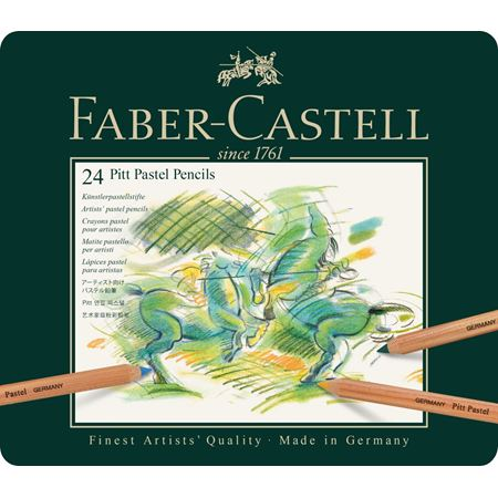 Faber-Castell - Pitt Pastel pencil, tin of 24